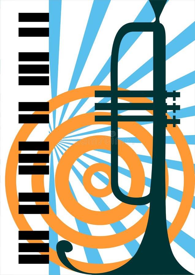 Vektortrompete und Klavierabbildung lizenzfreie abbildung
