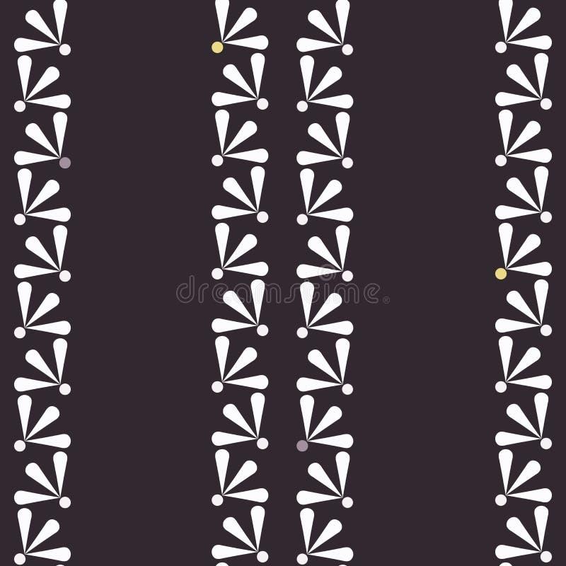 Vektortusenskönor på mörk sömlös modellbakgrund stock illustrationer