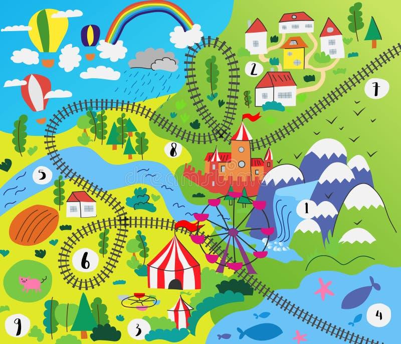 Vektorungen behandla som ett barn barnet för att spela matt design stock illustrationer