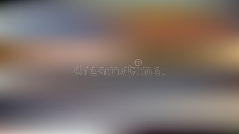 Vektorunschärfehintergrund in den braunen und blauen Farben Apfelbaum, Sonne, Blumen, Wolken, Wiese? lizenzfreie abbildung