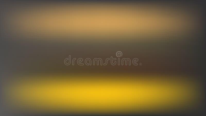 Vektorunschärfehintergrund mit zwei horizontalen goldenen Stellen lizenzfreie abbildung