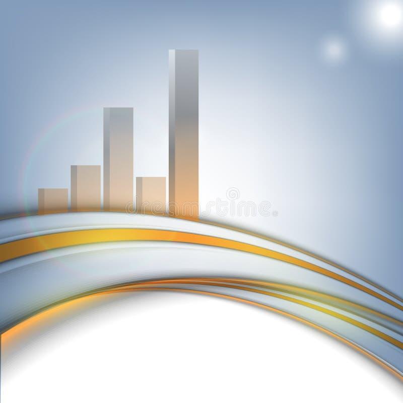 Vektorunternehmensstatistik lizenzfreie abbildung