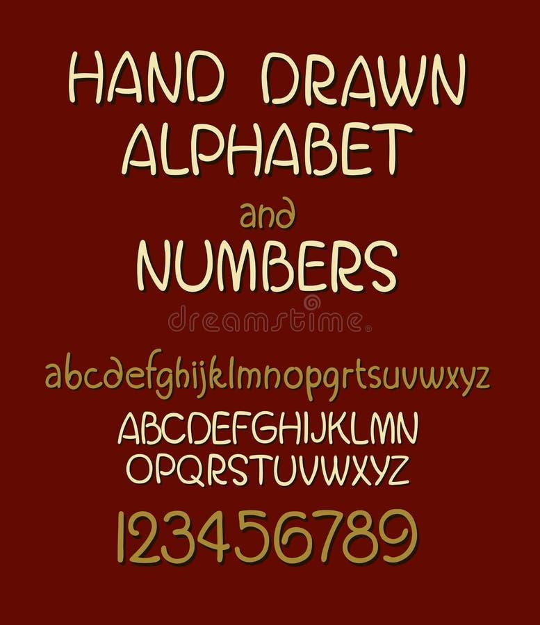 Vektoruppsättning av det calligraphic akryl- eller färgpulveralfabetet Röd bakgrund vektor illustrationer