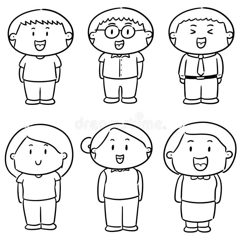 Vektoruppsättning av folk vektor illustrationer