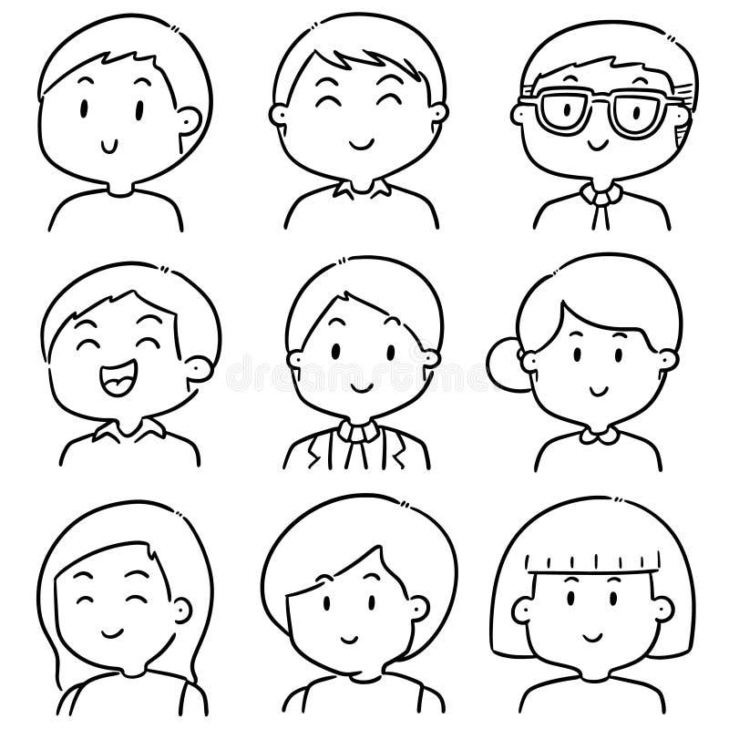 Vektoruppsättning av folk stock illustrationer