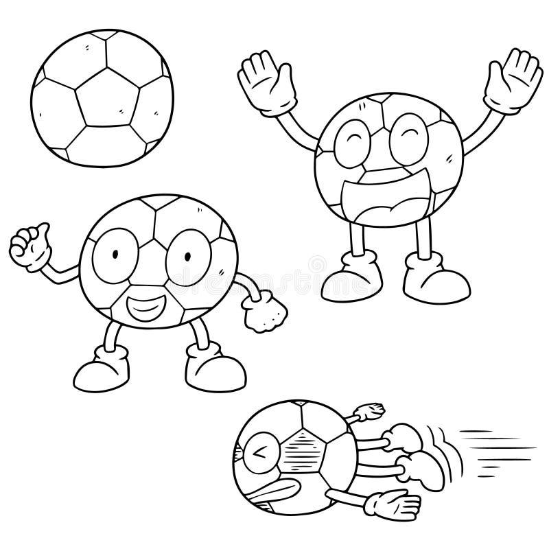 Vektoruppsättning av fotboll royaltyfri illustrationer