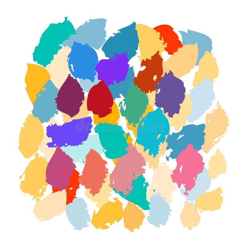 Vektoruppsättning av grungeborsteslaglängder white för vektor för borste för 8 ai eps isolerad vektor illustrationer