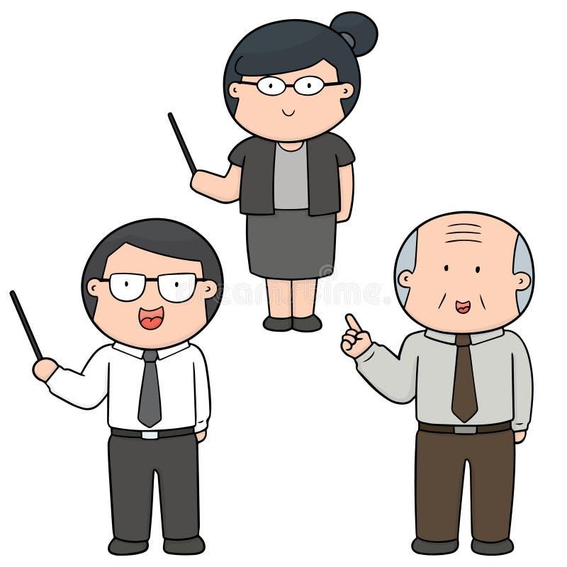 Vektoruppsättning av läraren stock illustrationer