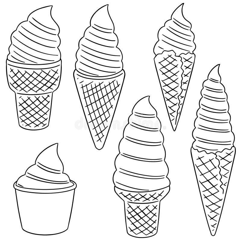 Vektoruppsättning av mjuk kräm royaltyfri illustrationer