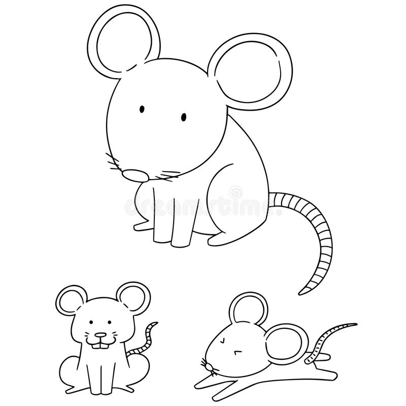 Vektoruppsättning av musen royaltyfri illustrationer