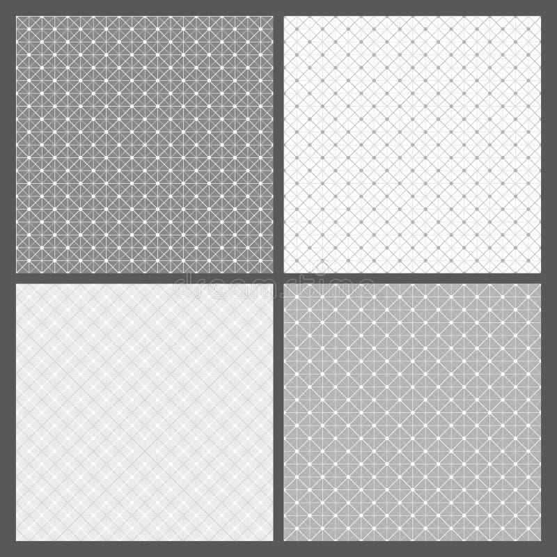 Vektoruppsättning: geometriskt mönstrar royaltyfri illustrationer