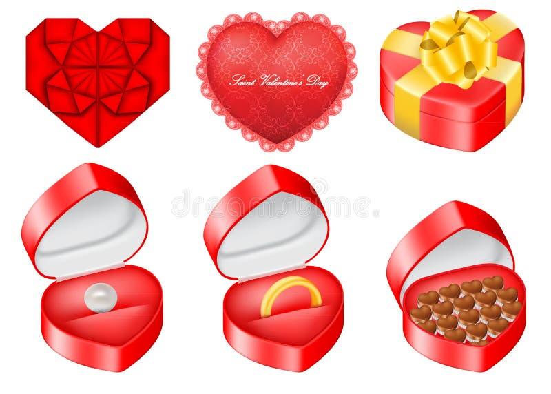 Vektoruppsättningen av anmärker släkt till Sanktt valentin dag vektor illustrationer