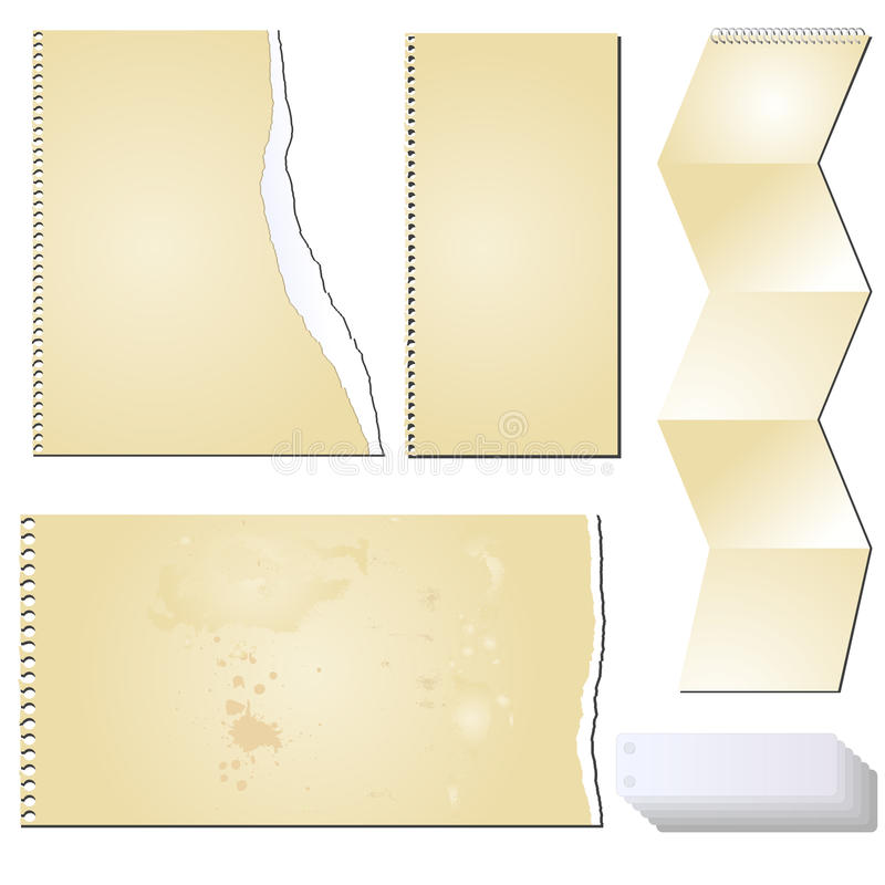 Pappers- scrapbooking tablet för vektorgrunge royaltyfri illustrationer