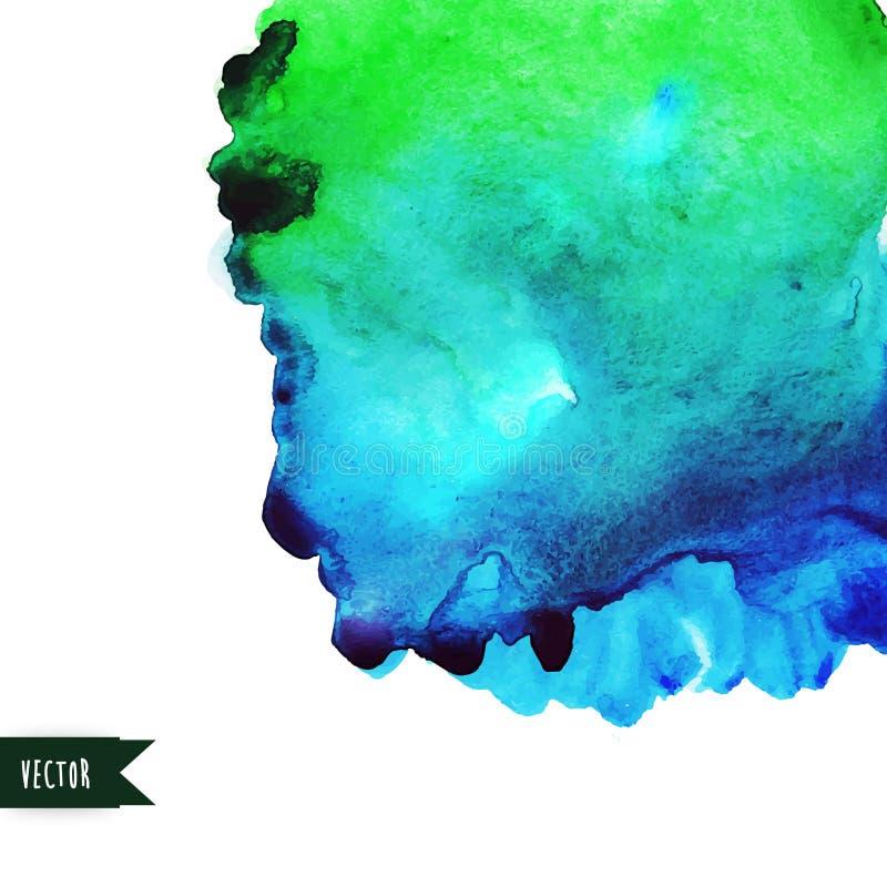 Vektorvattenfärgbakgrund vektor illustrationer
