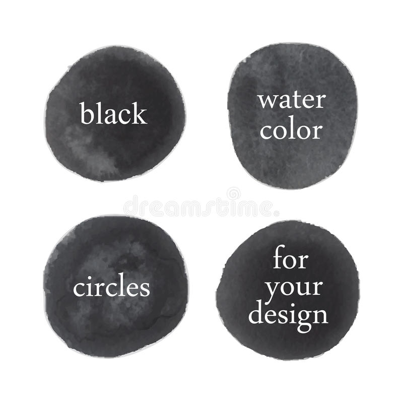 Vektorvattenfärgfläckar vektor illustrationer