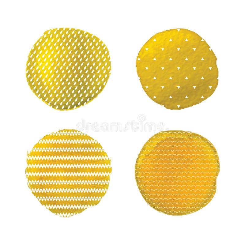 Vektorvattenfärgfläckar royaltyfri illustrationer