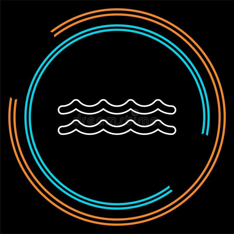 Vektorvattenvåg, flod stock illustrationer