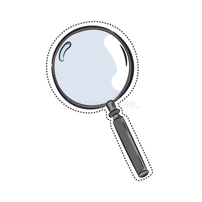 Vektorvergrößerungsglasikone lizenzfreies stockbild