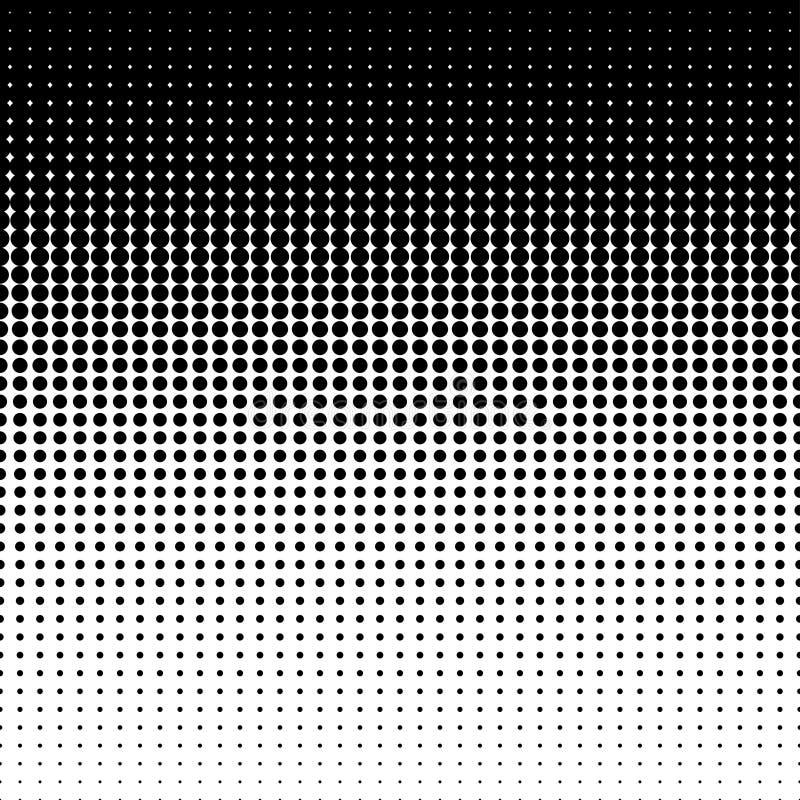 Vektorvermindernde Halbtonpunkte stockbilder