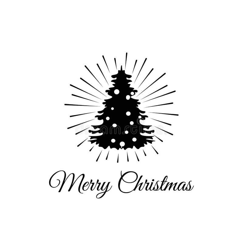 Vektorversion in meinem Portefeuille Karte Weihnachten Greeteing Vektorillustration lokalisiert auf Weiß vektor abbildung