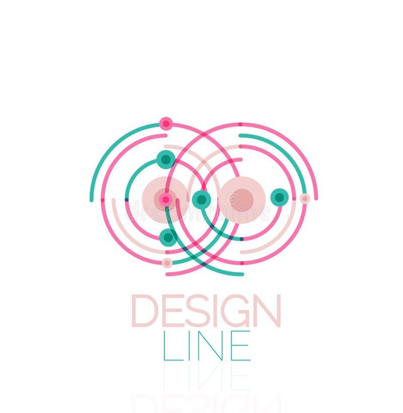Vektorvirvel och minsta abstrakt begrepp för cirkelöversikt royaltyfri illustrationer