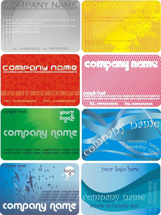 VektorVisitenkarte lizenzfreies stockbild