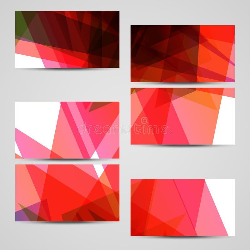 Vektorvisitenkartesatz für Ihr Design stockfoto