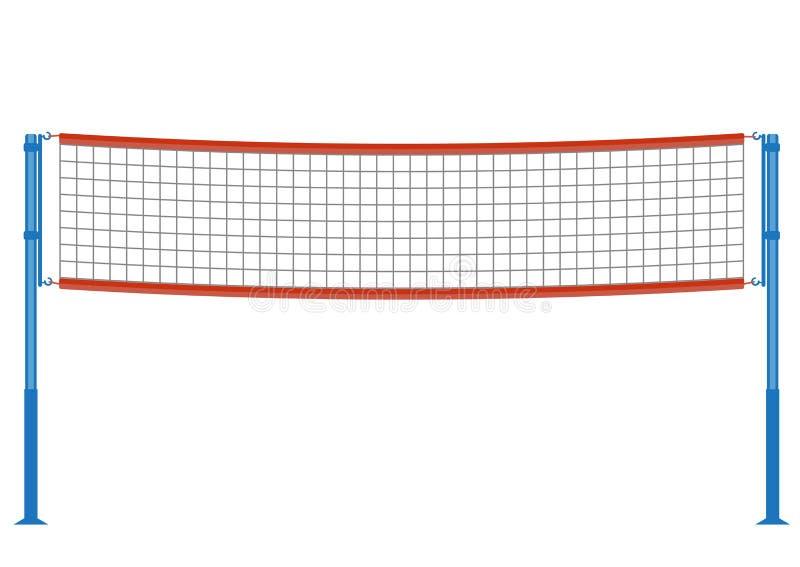Vektorvolleyball-Netzillustration stock abbildung