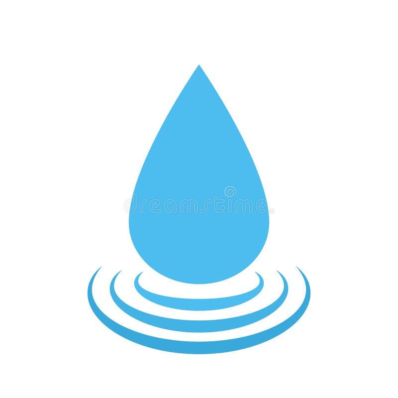 Vektorwasser-Tropfenlogo Wassertröpfchensymbol stock abbildung