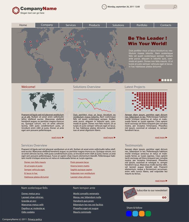 Vektorweb-Plan lizenzfreie abbildung