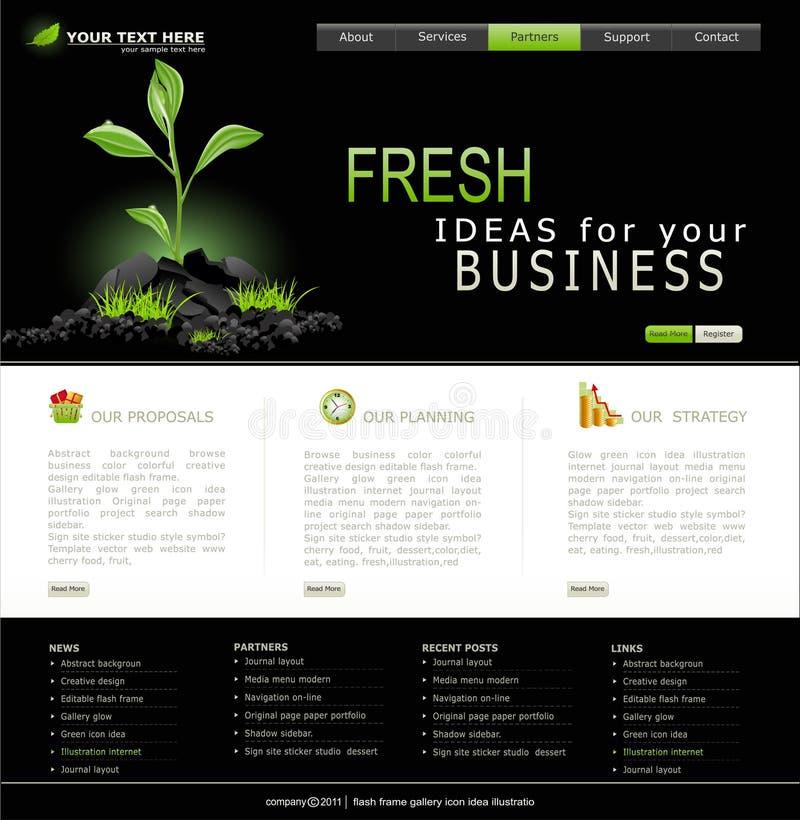 Vektorweb site für Geschäft lizenzfreie abbildung