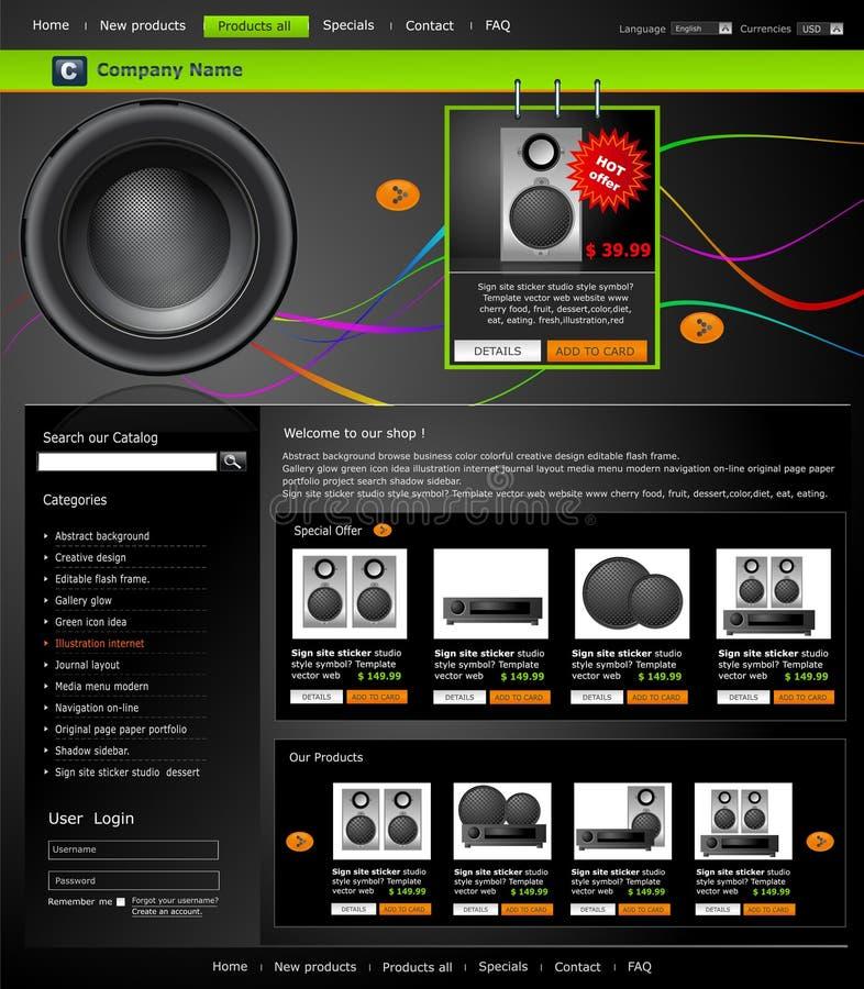 Vektorweb site ist- ein Onlinespeicher stock abbildung