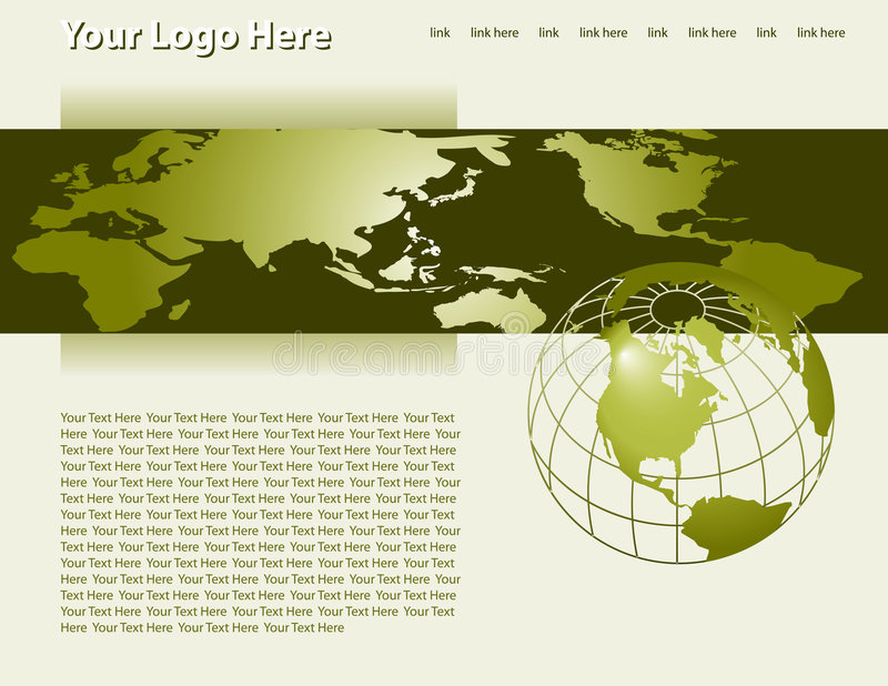 Vektorwebseiten-Schablone lizenzfreie abbildung