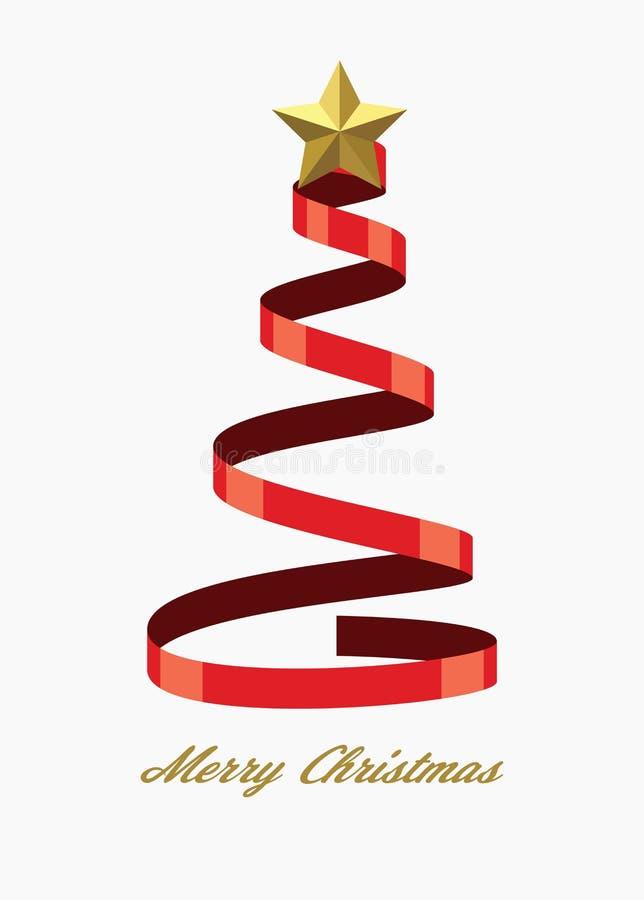 Vektorweihnachtsfeiertagshintergrund für Grußkarten mit Baum vektor abbildung
