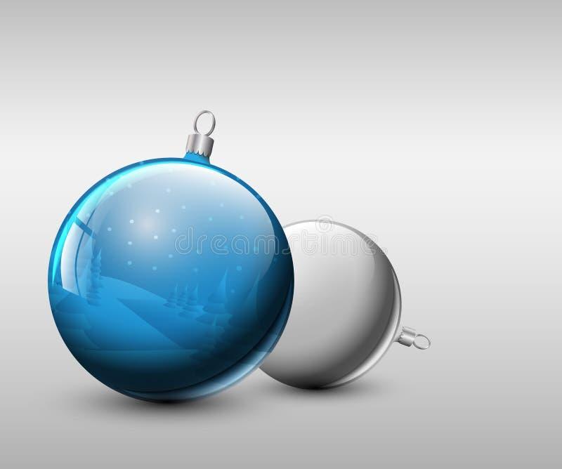 Vektorweihnachtsrealistischer Flitter vektor abbildung