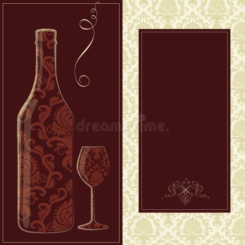 Vektorweinkarte stock abbildung