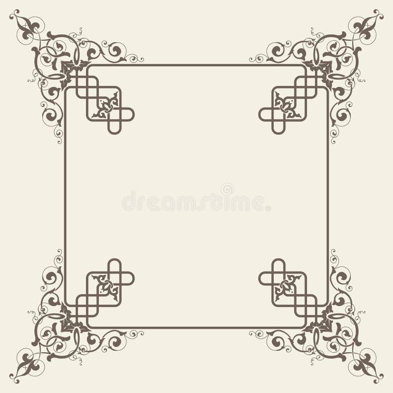 Vektorweinlese-Quadratrahmen vektor abbildung