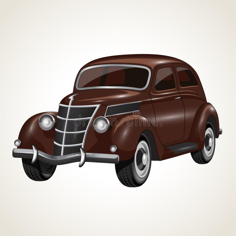 Vektorweinlese Retro- Cabrioletauto lizenzfreie abbildung