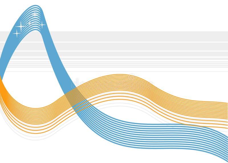 Vektorwellenhintergrund vektor abbildung