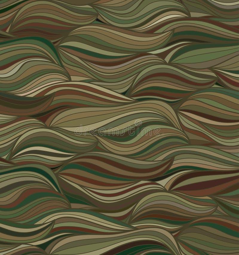 Vektorwellenhintergrund von gezogenen Linien vektor abbildung