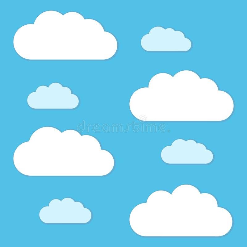 Vektorwolken und Himmelhintergrund vektor abbildung