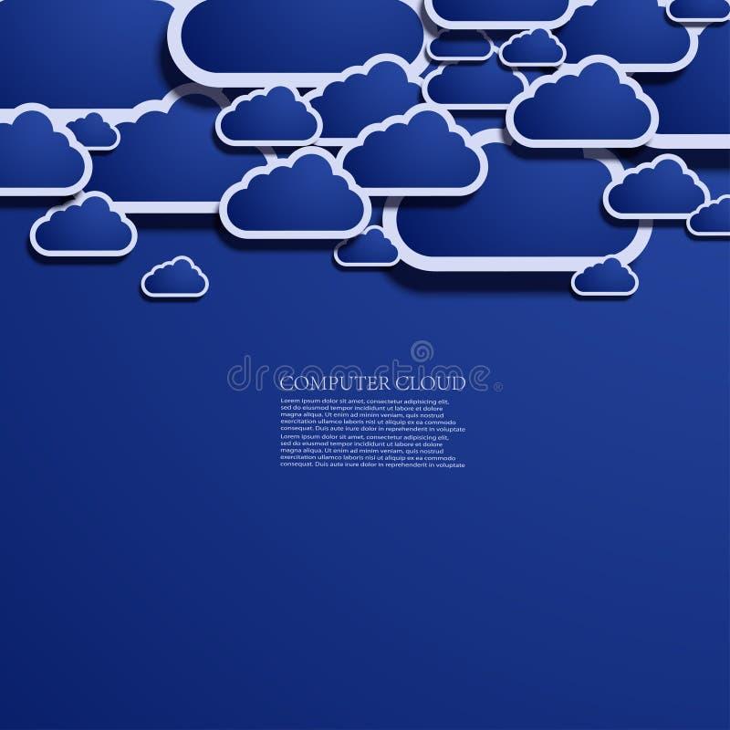 Vektorwolkengestaltungselement lizenzfreie abbildung