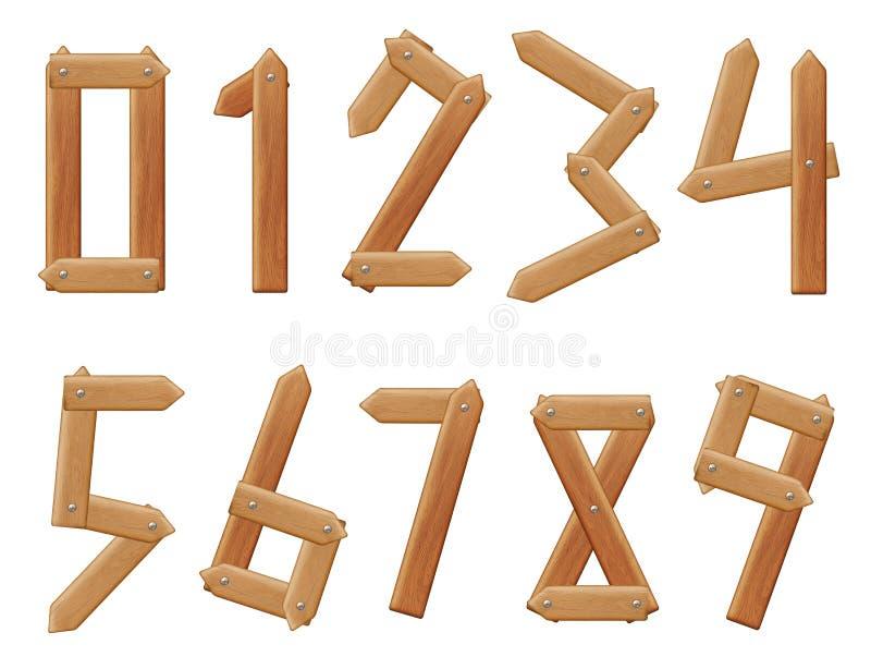 Vektorzahlen bis zehn stock abbildung