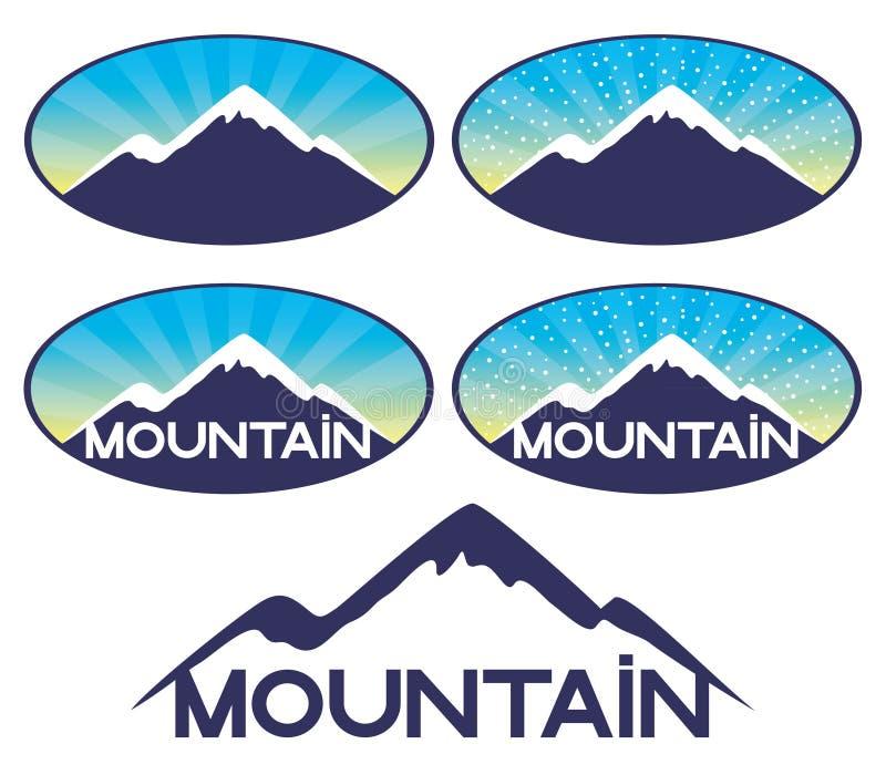 Vektorzeichen Berg stock abbildung