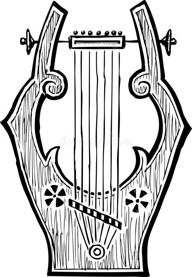 Antiker Lyre vektor abbildung