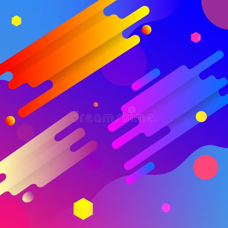 Vektorzeichnung des bunten und hellen Hintergrundes lizenzfreie abbildung