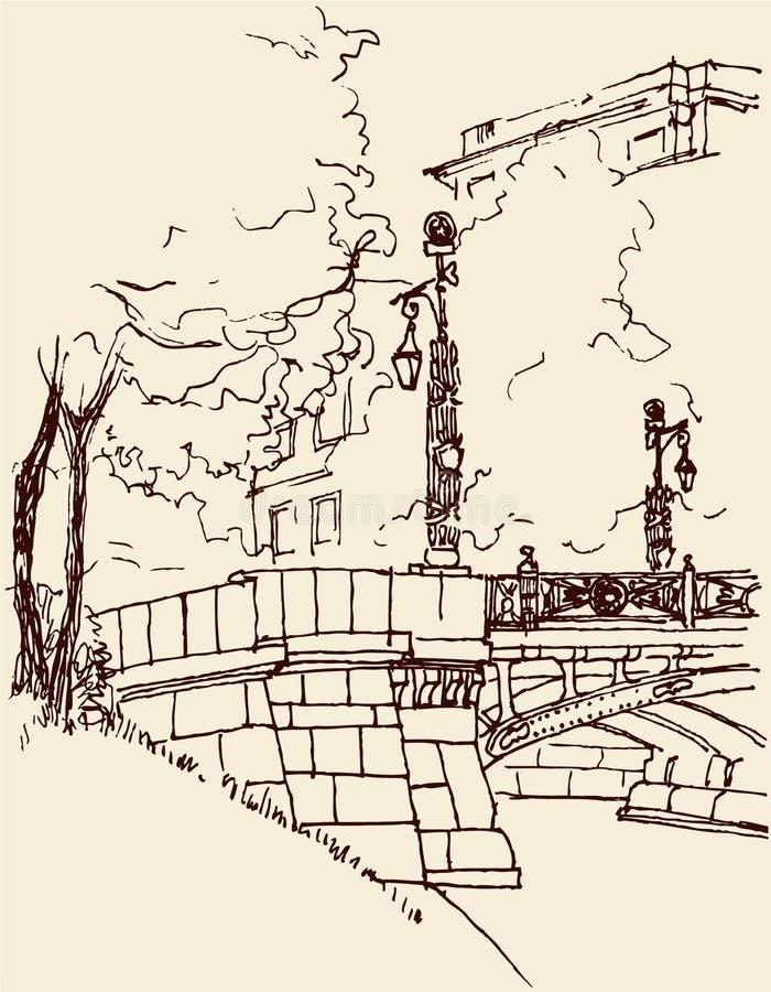 Stadtbrücke stock abbildung