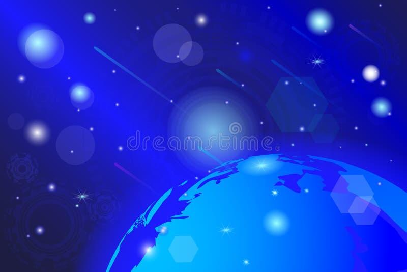 Vektorzeichnung, eines kosmischen, abstrakten bunten Hintergrundes stock abbildung