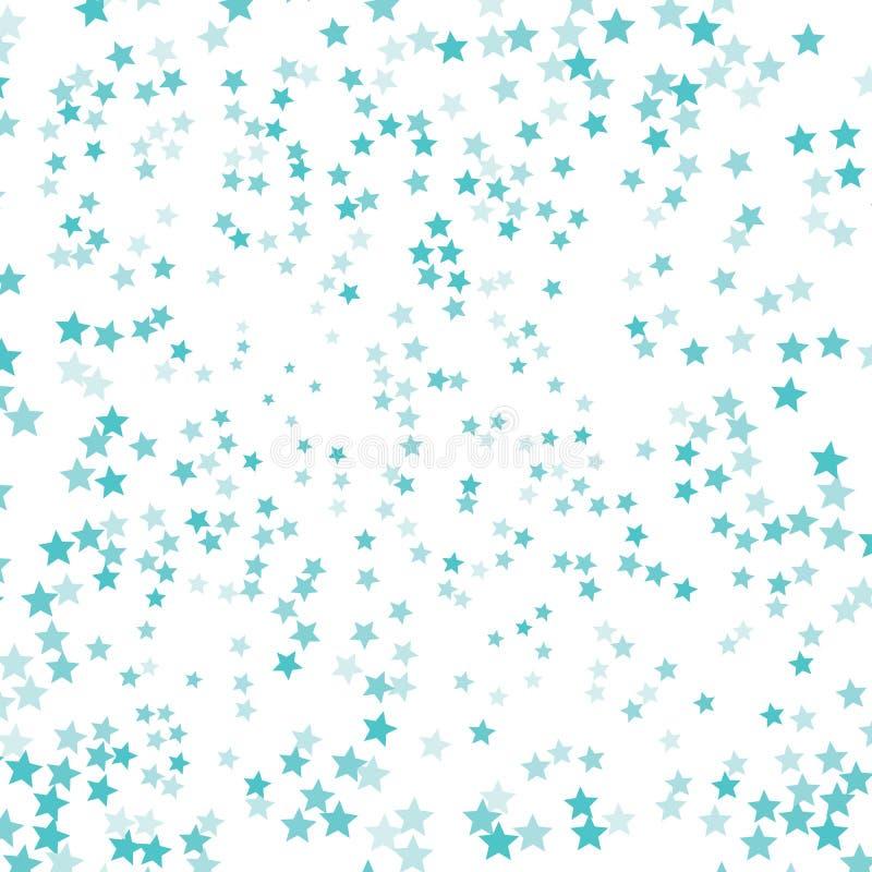 Vektorzeichnung ist- zum Download betriebsbereit Vektorkonfetti-Entwurfsmuster Fallende glänzende Sterne EPS10 vektor abbildung