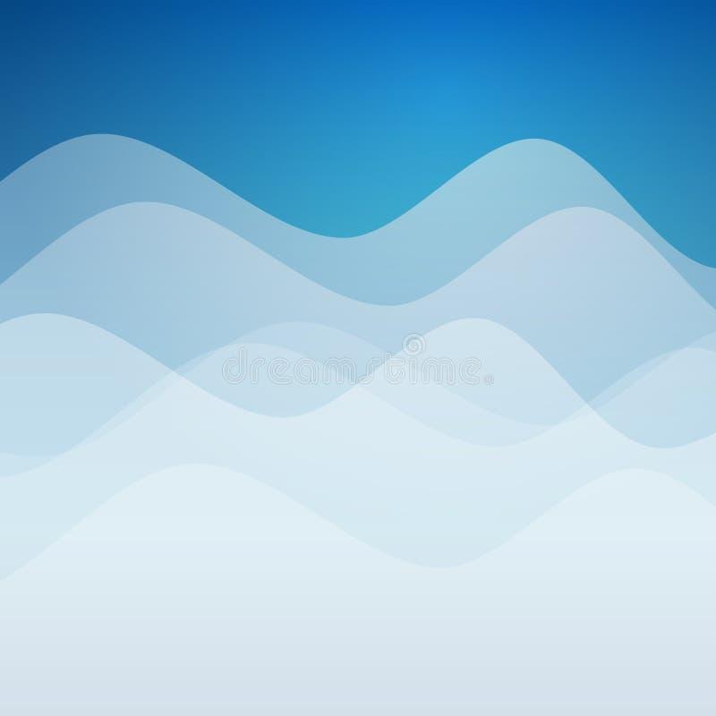 Vektorzusammenfassungs-Designhintergrund mit Wellen stock abbildung